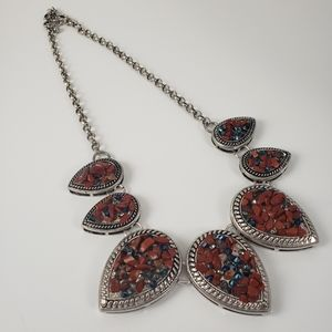CHARMING CHARLIE Stone and Crystal Necklace